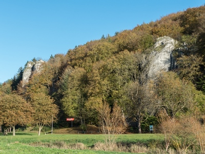 Achtal by the Hohle Fels cave