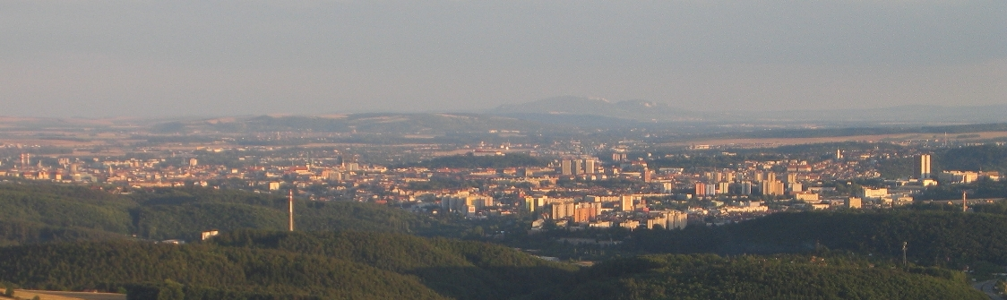 view of Brno and the Pavlov Hills