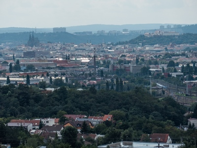a view of Brno from Hády